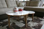 Table basse  gigogne Jimi  design scandinave lot de 2