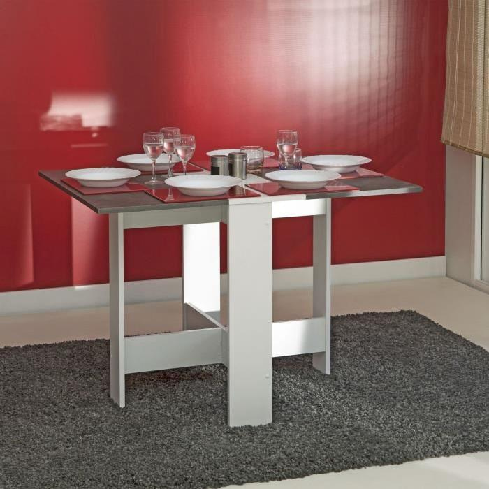table a manger cuisine curry pliante beton maison design. Black Bedroom Furniture Sets. Home Design Ideas