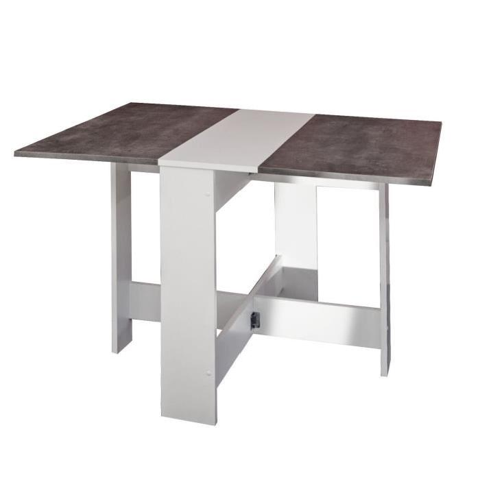 Table a manger cuisine curry pliante beton maison design for Table pliante 4 personnes